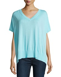 Diane Von Furstenberg Honey V Neck Dolman Sweater Azure Blue