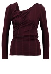 Vivienne Westwood Anglomania Priestess Long Sleeved Top Bordeaux