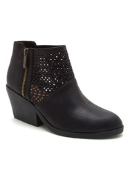 Qupid Zora Cut Out Ankle Boot Black