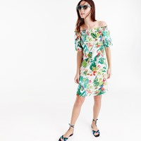 J.Crew Tall Off The Shoulder Dress In Ratti Into The Wild Print