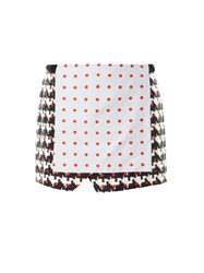 Thakoon Printed Wrap Front Skirt