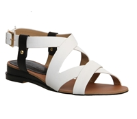 Office Olivier Wedge Leather Sandals White