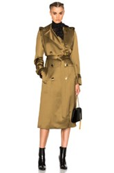Lanvin Wool Viscose Trench Coat In Green