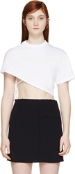 Jacquemus White Cropped One Sleeve T Shirt
