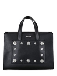 Versus Studded Saffiano Leather Top Handle Bag