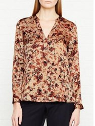 Jigsaw Florentine Open Neck Blouse Ceramic Pink