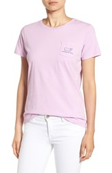 Vineyard Vines Women's Whale Graphic Short Sleeve Pocket Tee Wisteria
