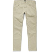 Hugo Boss Delaware Slim Fit Stretch Cotton Twill Chinos Neutrals