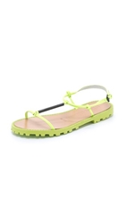 Opening Ceremony Oc T Strap Sandals Neon Green