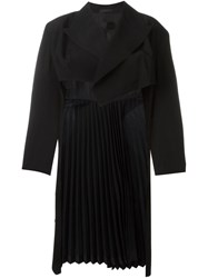 Comme Des Gara Ons Vintage Pleated Long Back Jacket Black