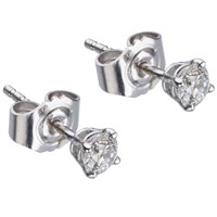 Ewa White Gold Diamond Stud Earrings