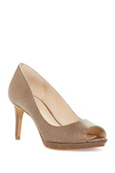 Nine West Gelabelle Peep Toe Pump Gray