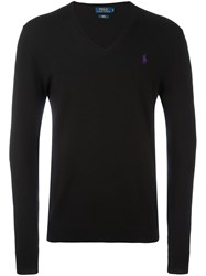 Polo Ralph Lauren V Neck Jumper Black