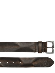 Diesel Vintage Effect Leather Belt