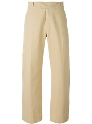 Soulland 'Marchionne' Wide Leg Trousers Nude And Neutrals