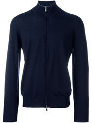 Brunello Cucinelli Zipped Cardigan Blue