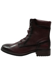 Dockers By Gerli Laceup Boots Dunkelrot Bordeaux