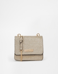 Carvela Lurex Cross Body Bag Goldlurex