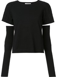 Dorothee Schumacher Cut Out Jumper Black