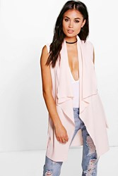 Lexi Waterfall Belted Sleeveless Duster