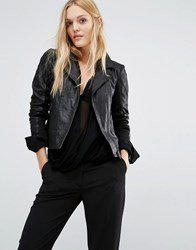 Y.A.S Lindsay Leather Jacket Black
