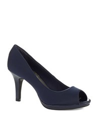 Bandolino Supermodel Peep Toe Pumps Navy