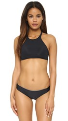 Basta Surf Popoyo Reversible High Neck Bikini Top Black