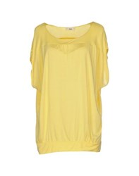 Zinco Topwear T Shirts Women Yellow