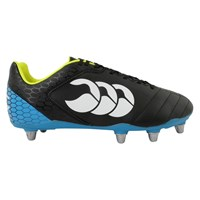 Canterbury Of New Zealand Stampede Club 8 Stud Rugby Boots Black Blue