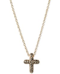 Judith Jack 14K Gold Plated Marcasite Cross Pendant Necklace