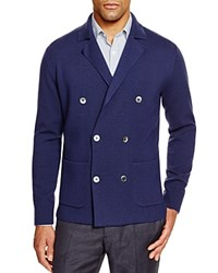 Hardy Amies Knit Double Breasted Cardigan Navy