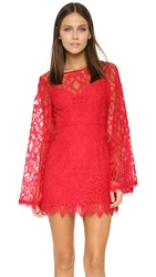 Free People Guinevere Lace Dress Red