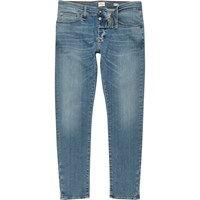 River Island Mens Light Blue Wash Ri Flex Sid Skinny Jeans