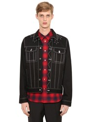 Givenchy Contrasting Color Stitching Denim Jacket