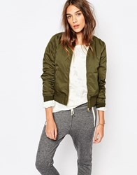 Pull And Bear Pullandbear Bomber Jacket Khaki Green