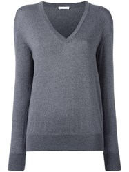 Tomas Maier V Neck Jumper Grey