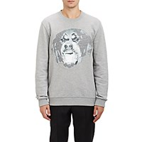 Givenchy Men's Rottweiler Graphic Sweatshirt Grey Light Grey Grey Light Grey