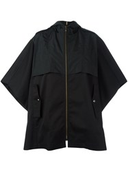 Sonia Rykiel By Zip Up Cape Coat Black