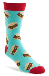 Topman Burger Socks Light Blue