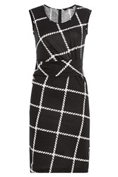 Steffen Schraut Printed Silk Dress Black