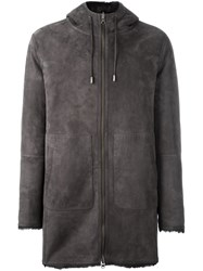Desa 1972 Zip Up Hooded Coat Grey