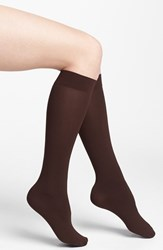 Women's Dkny Opaque Microfiber Knee Highs Brown 2 For 15 Chocolate Brown