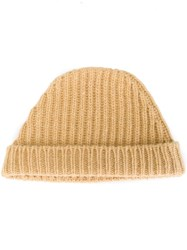 Marni Knitted Beanie Nude And Neutrals