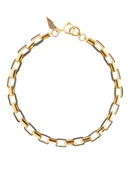 Diane Von Furstenberg Gold Plated And Leather Necklace