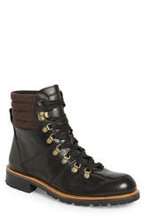 Andrew Marc New York 'Chester' Plain Toe Boot Men Black Asphalt Black Leather