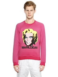 Dsquared Marildean Printed Cotton Sweatshirt Pink