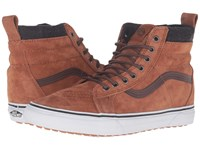 Vans Sk8 Hi Mte Mte Glazed Ginger Plaid Skate Shoes Brown