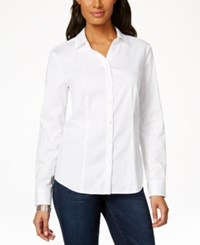 Charter Club Petite Long Sleeve Button Down Shirt Only At Macy's