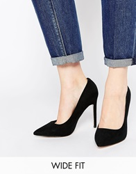 Asos Playful Wide Fit Pointed Heels Black