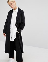 Monki Minimal Duster Jacket Black